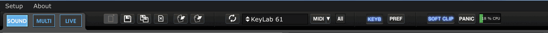 Analog Lab Toolbar