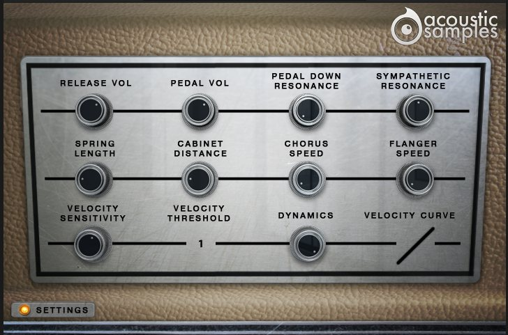 Wurlie Settings Panel