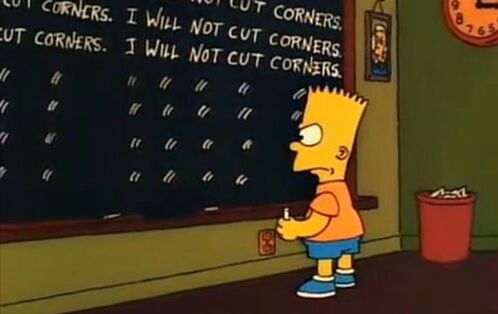 Bart Simpson Cut Corners Picture